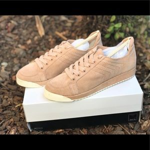 Dolce Vita Sage Blush Suede Sneaker Lace up
